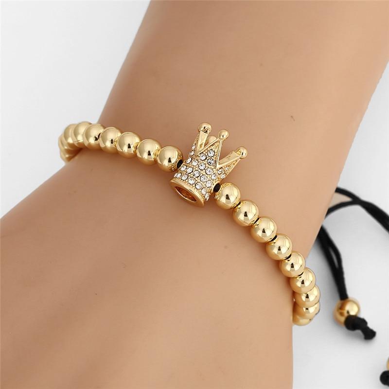 Bratara Brooks Queen Gold Zircon