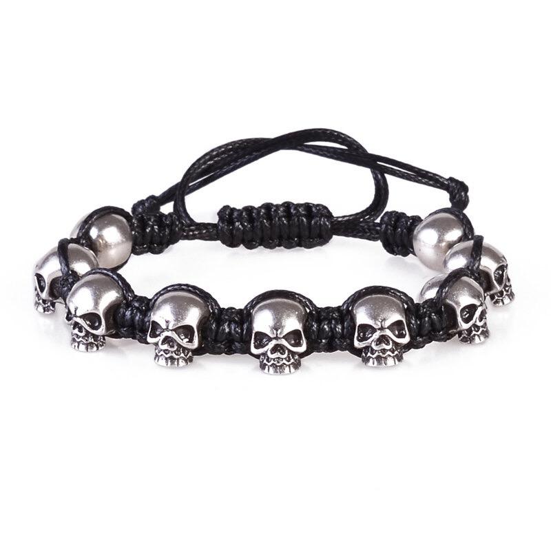 Brooks 9 Skull Steel Bracelet