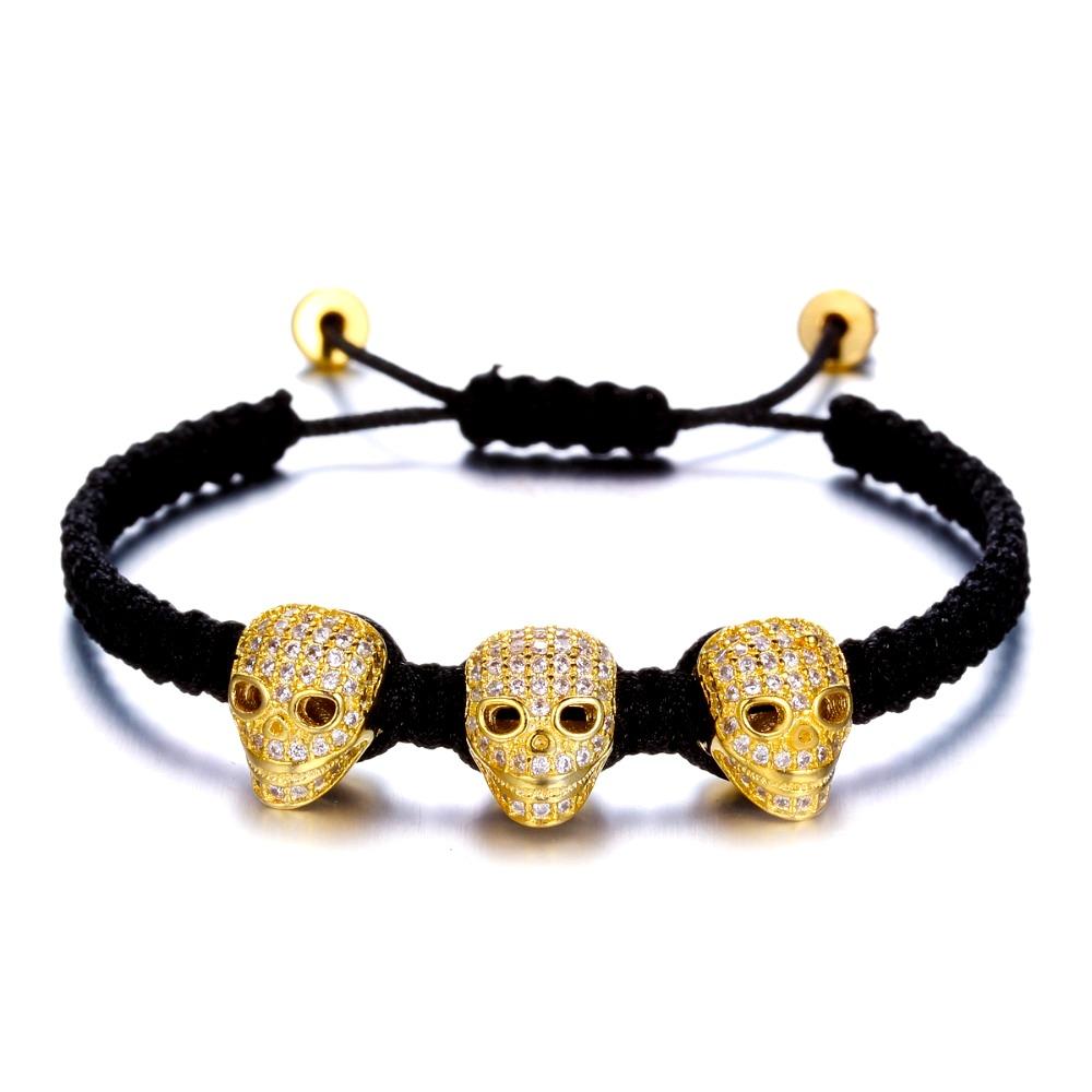 Brooks 3 Zircon Head Gold Skull