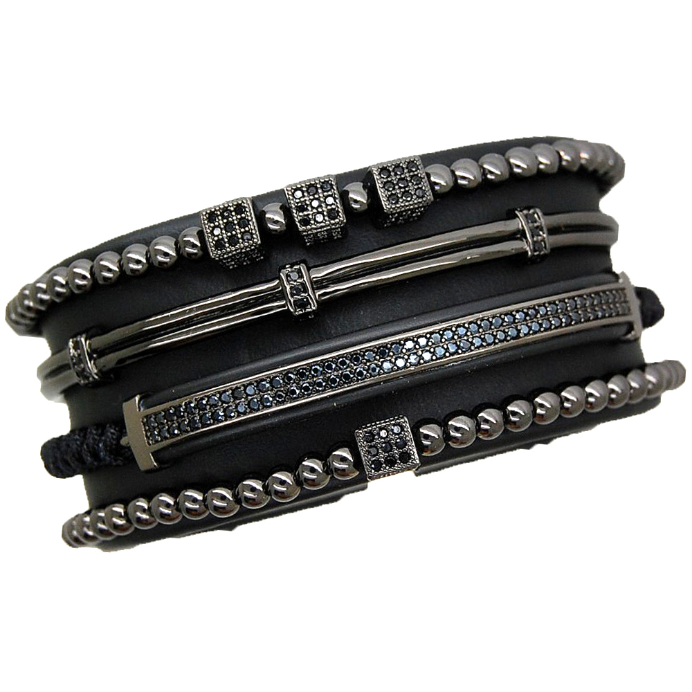 Brooks All Black Set 4 Bracelets