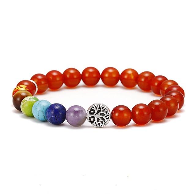 Brooks Chakra Red Beads