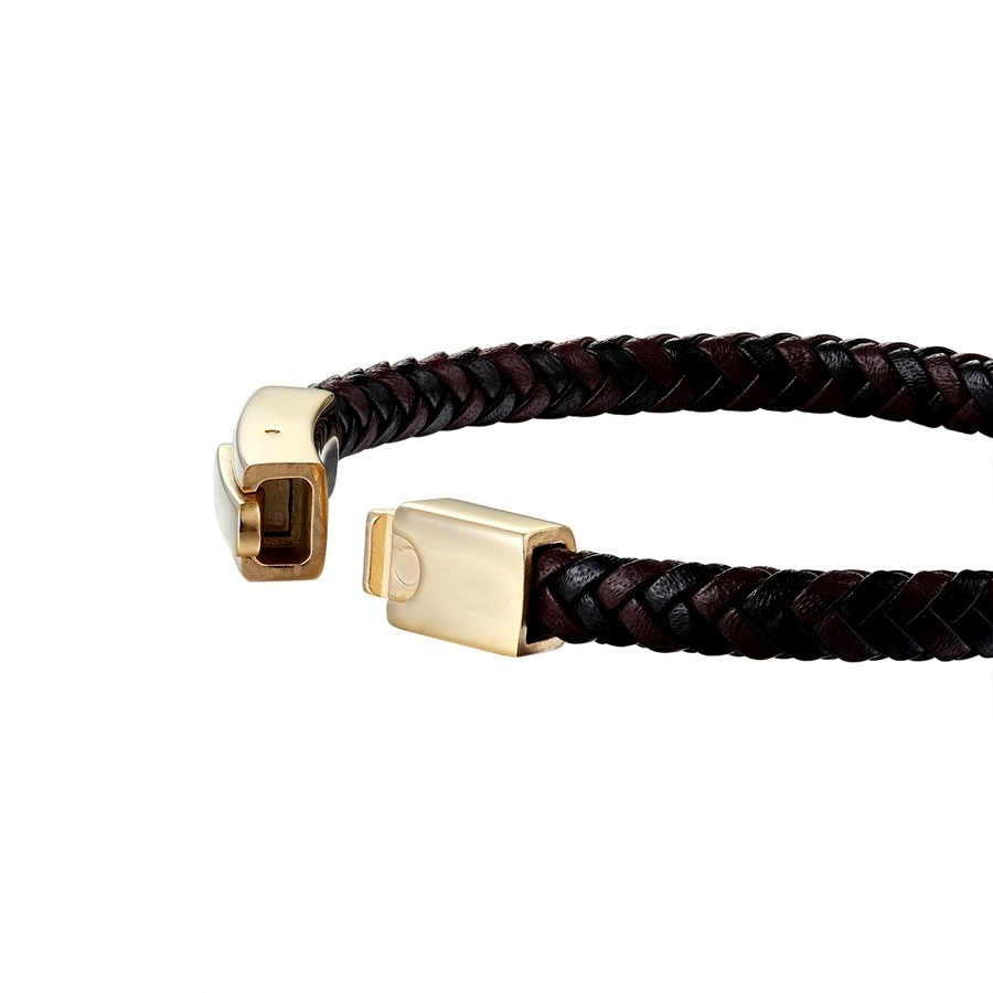 Brooks Knitted Leather Gold Clasp