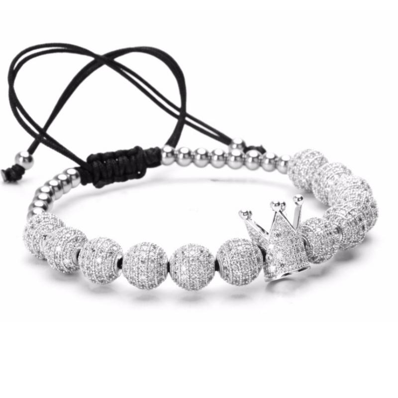 Brooks Silver Crown Zircon Bracelets