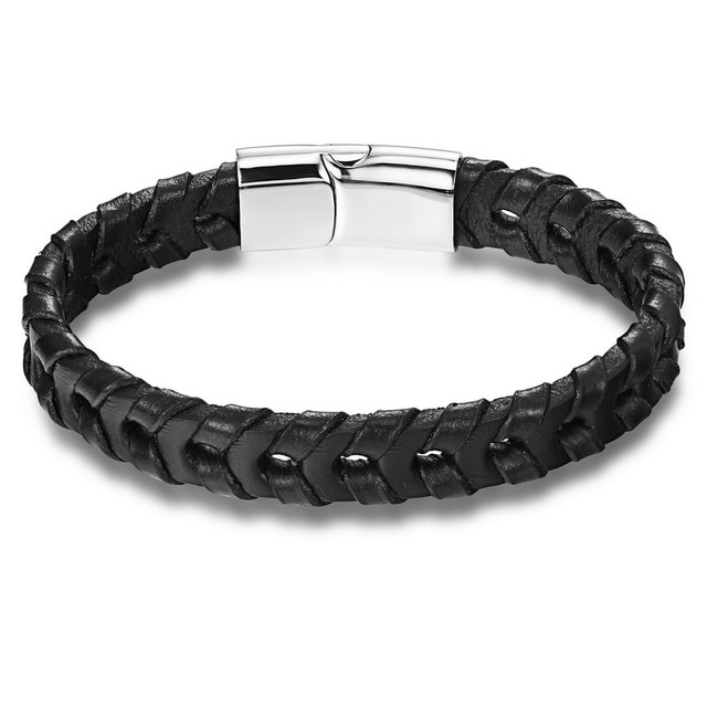 Brooks Handmade Knitted Black Bracelet