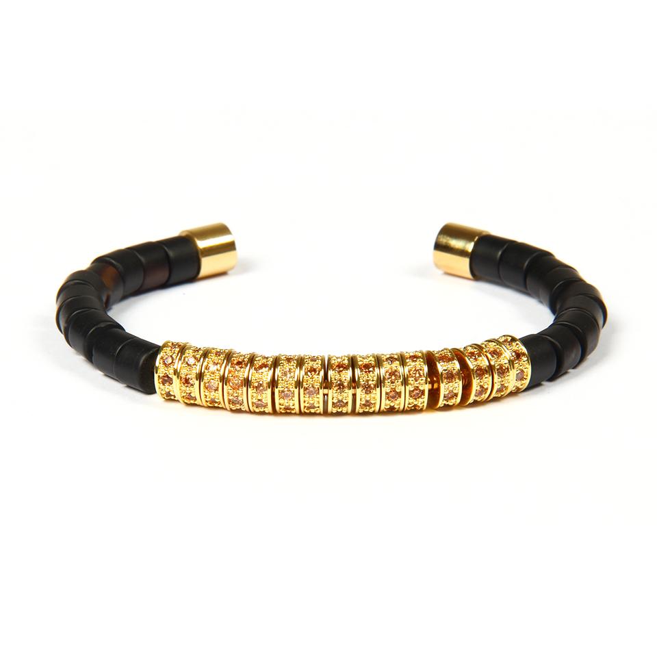 Brooks Luxury Bangle Gold Semilune