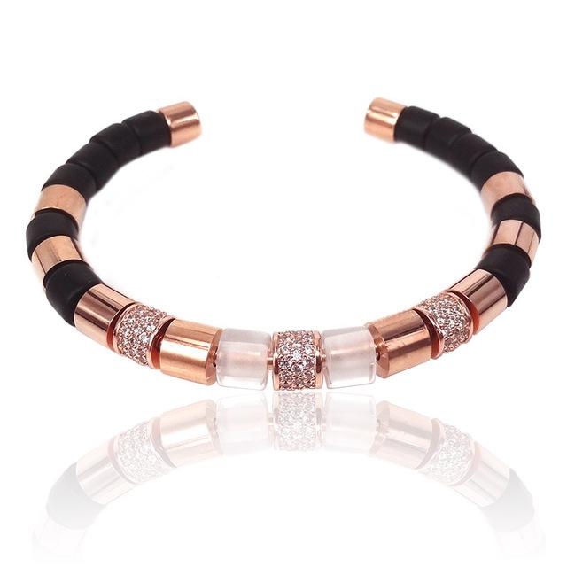Brooks Luxury Bangle Rose Gold Elements