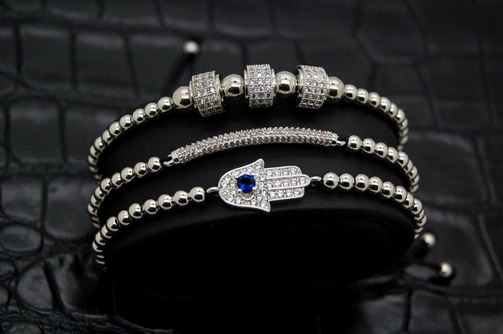 Brooks Luxury Set Fatima Silver Bracelets