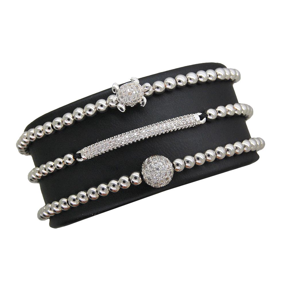 Brooks Luxury Set Silver Tortoise Bracelets