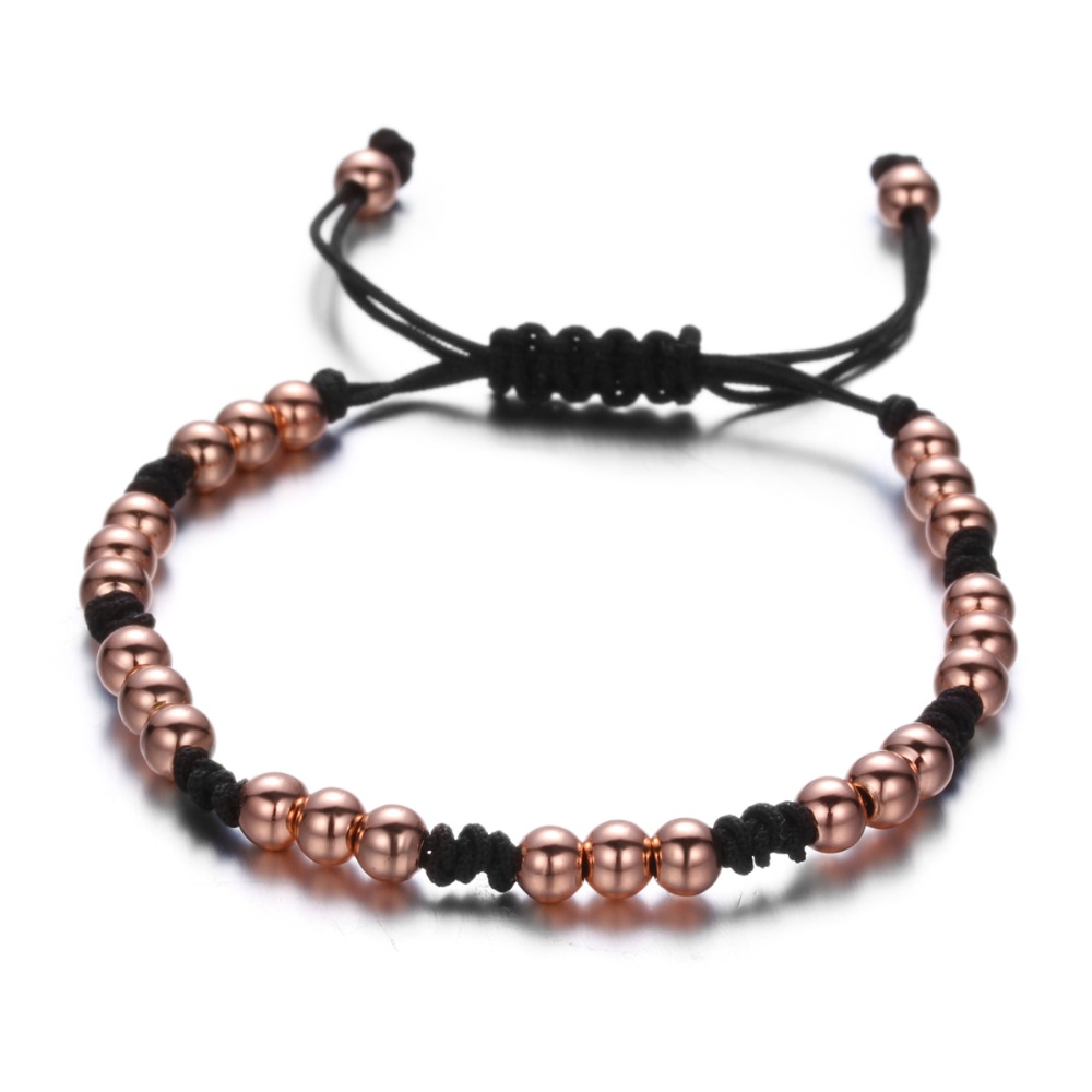 Brooks Woman Macrame Beads Bracelet GOLD