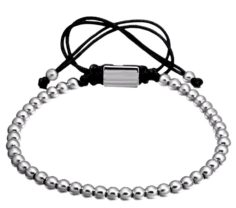 Brooks Silver Bead Bracelet