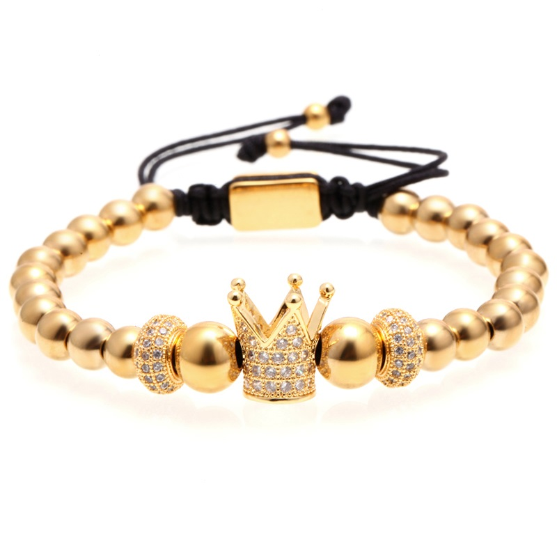 Brooks Gold Crown White Zircon