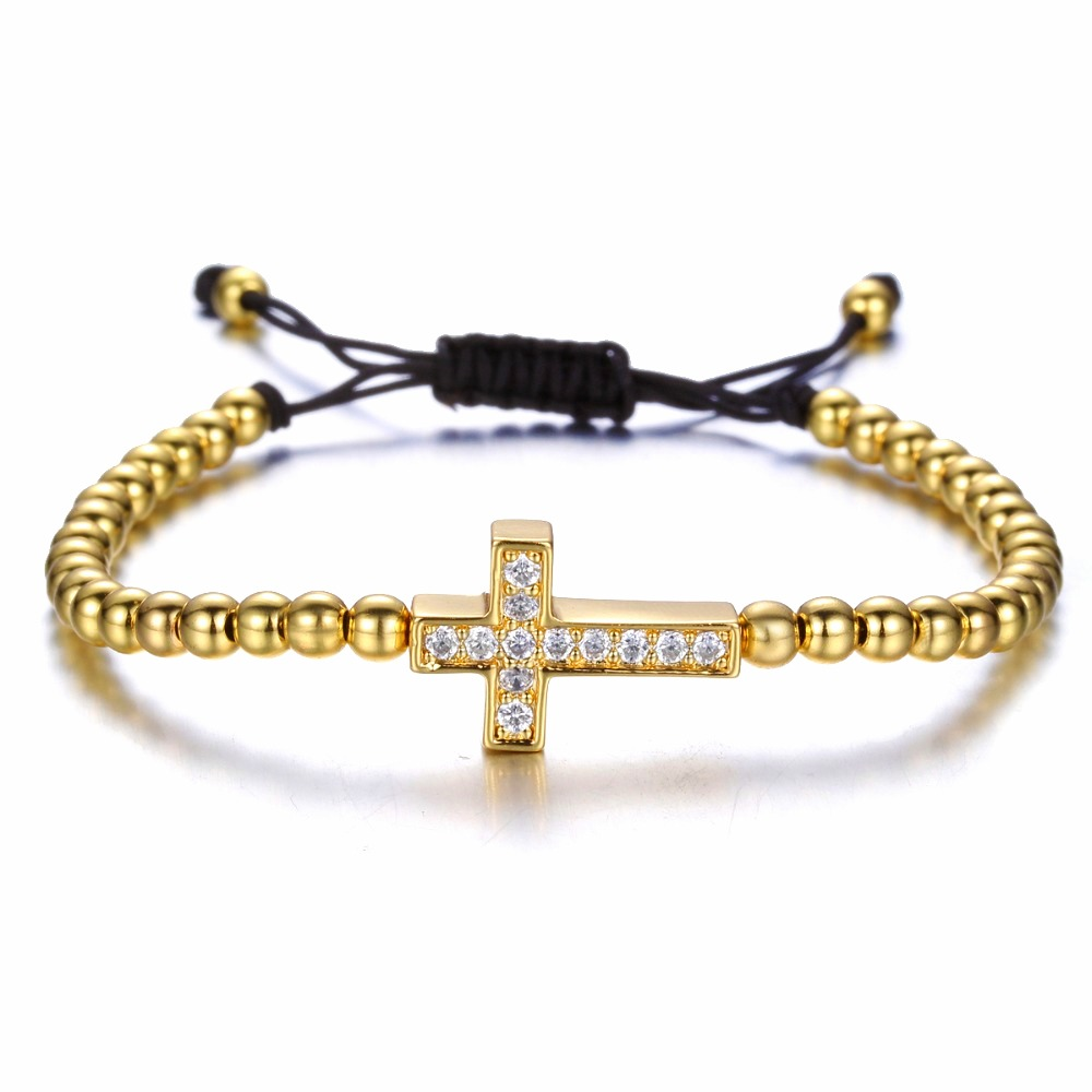 Brooks Woman Gold Zircon Cross