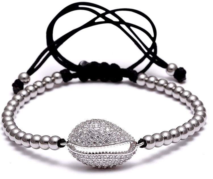 Brooks Shell Zircon Bracelet