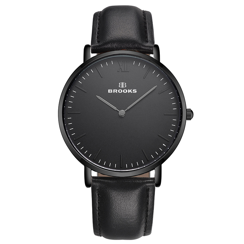 Ceas Brooks Extraplat All Black Minimalist