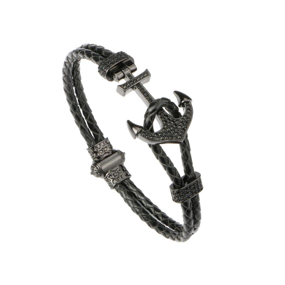 Brooks Nautical Black Zircon Anchor 20 CM