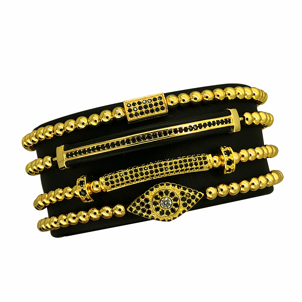 Supreme Set 4 Gold Brooks Bracelets