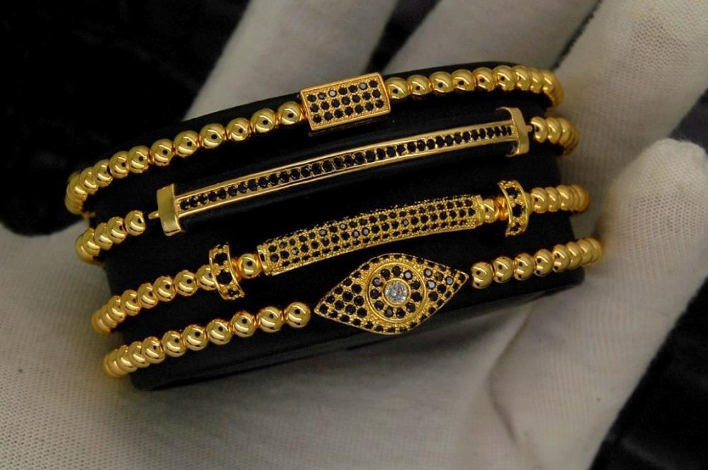 Supreme Set 4 Gold Brooks Woman Bracelets