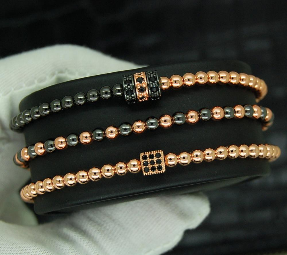 Luxury Set 3 Rose Gold Zircon Elements