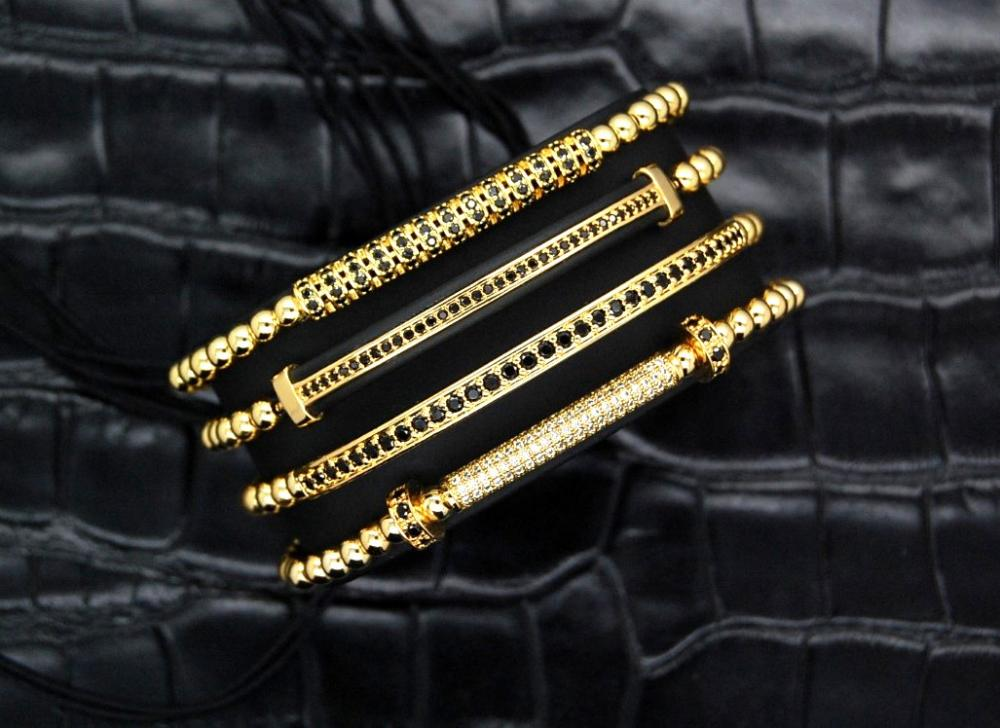Luxury Set 4 Gold 14K Brooks Bracelets
