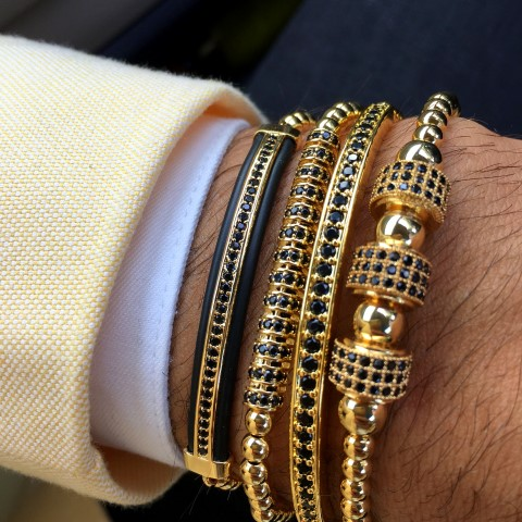Luxury Set 4 Gold Brooks Bracelets