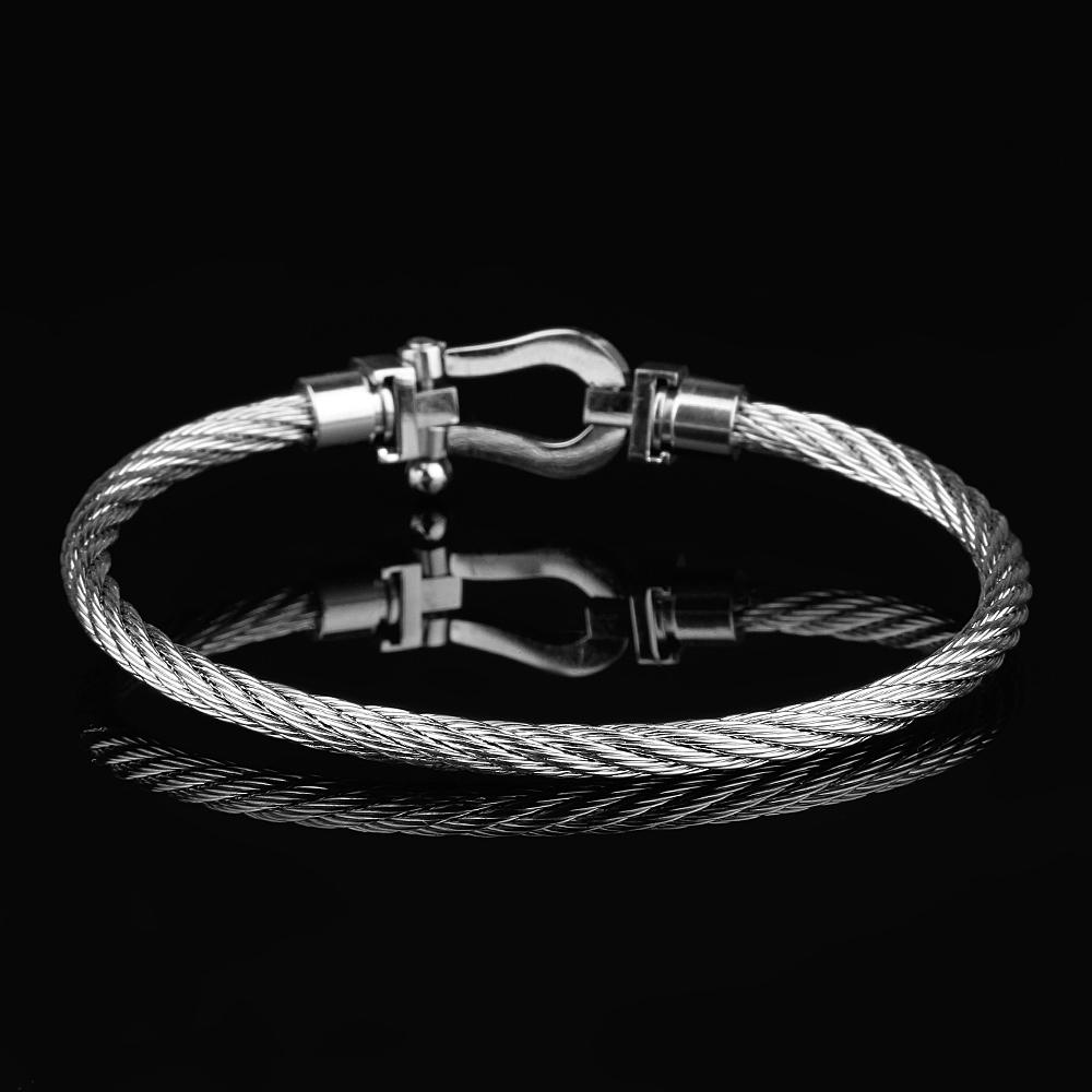 Nautical Men Silver Wire Bracelet