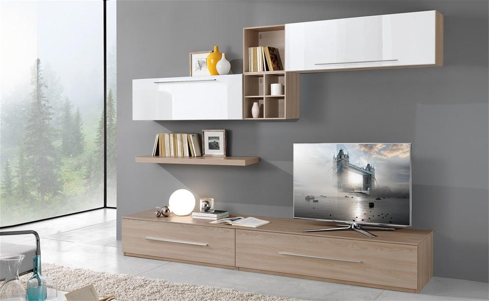 Living room comanda in jud bt si sv l18 0 pro casa mobila for Pareti attrezzate mondo convenienza