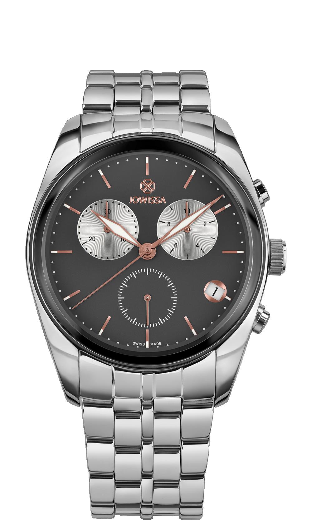 Ceas barbatesc Lux cu carcasa din otel inoxidabil 40mm, curea din metale, mecanism ETA G10.791, rezistent la apa 5 ATM