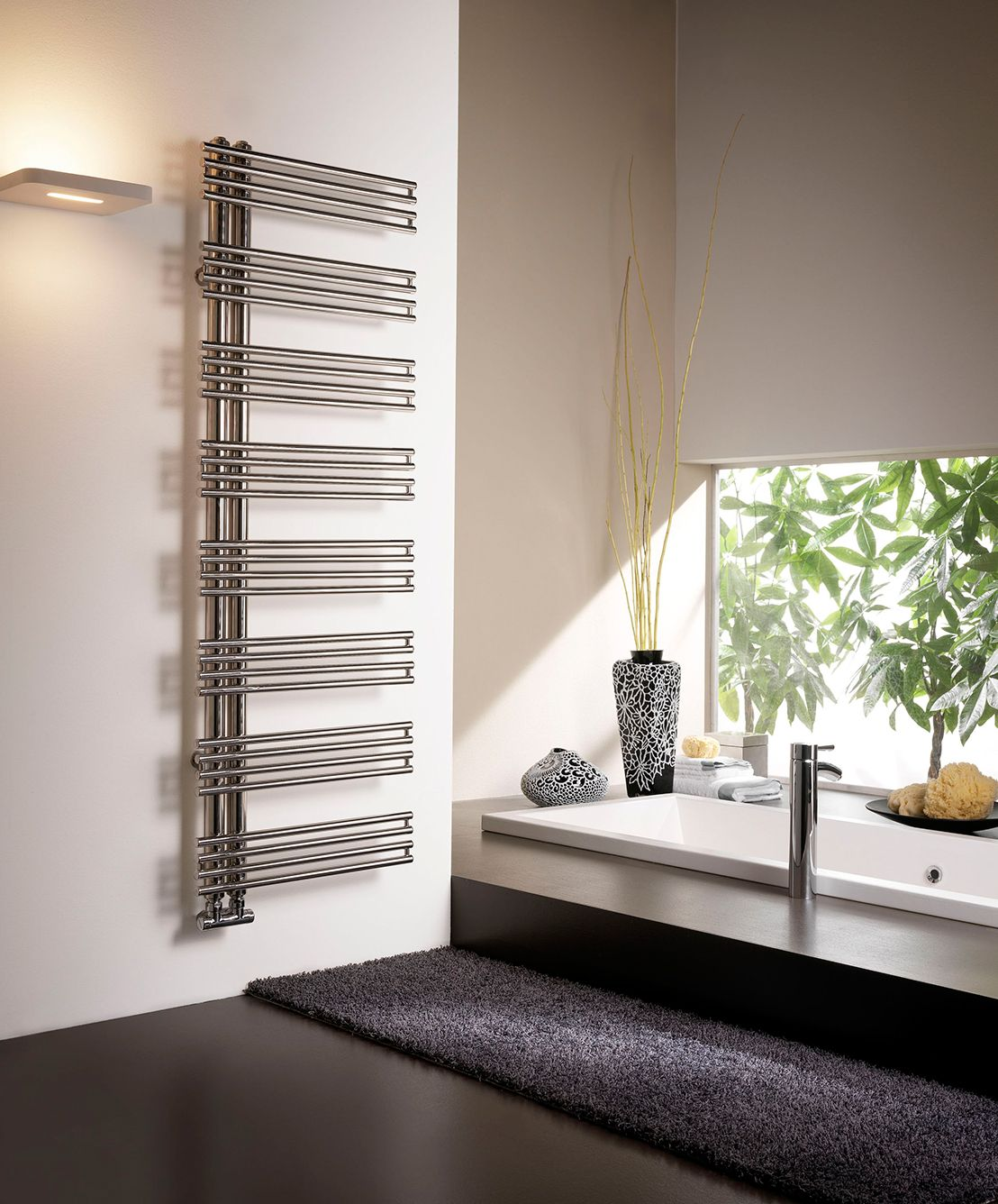 Calorifer baie Kelly Polished Stainless Steel 1224x500 mm, 434 W