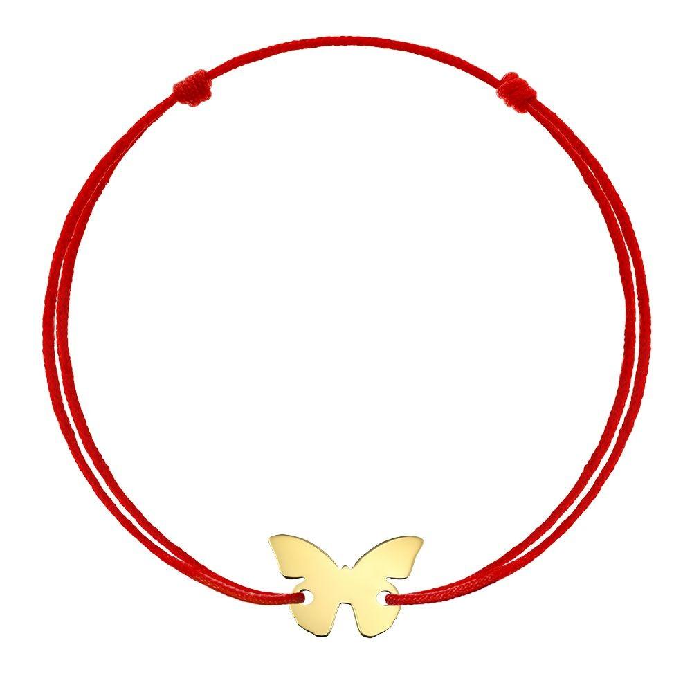 Bratara Fluture din Aur aur galben nou-nascut maro