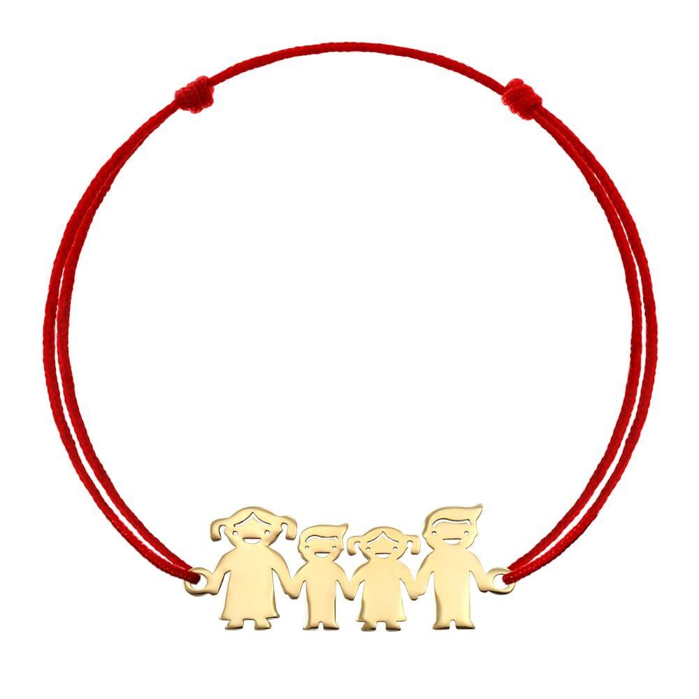 Bratara Personalizata Family  galben rosu copil mama+fata+baiat+tata