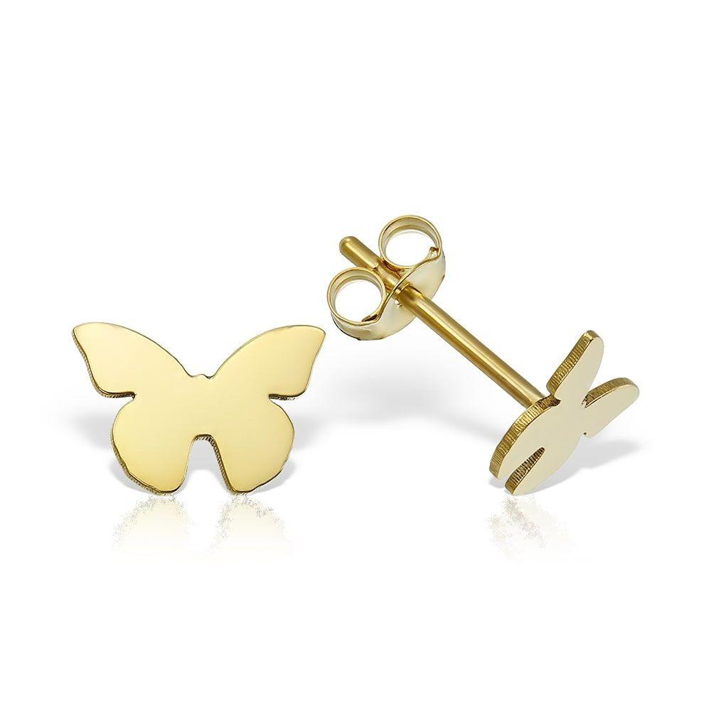Cercei Aur Butterfly