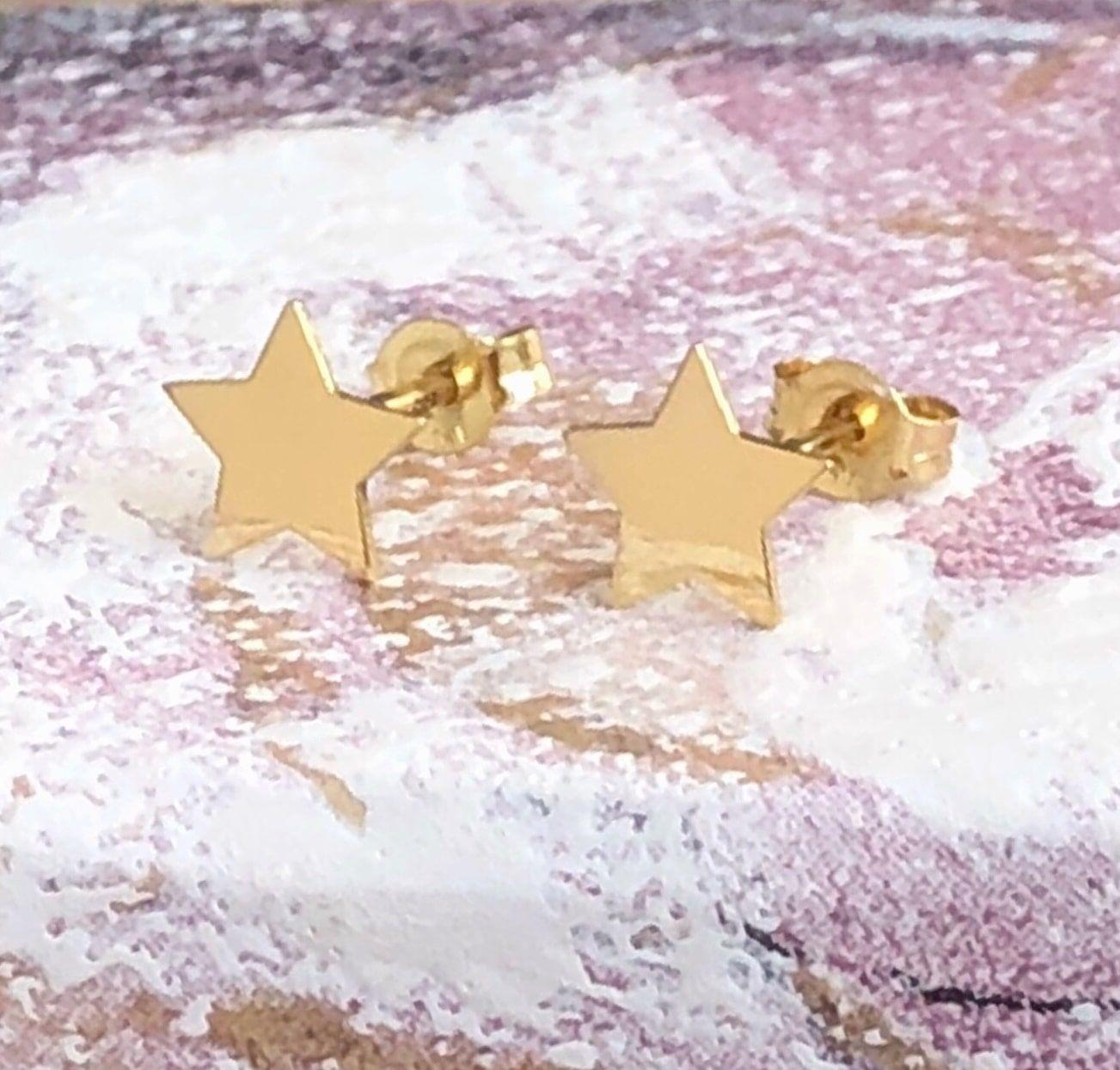 Cercei Aur Like a Star