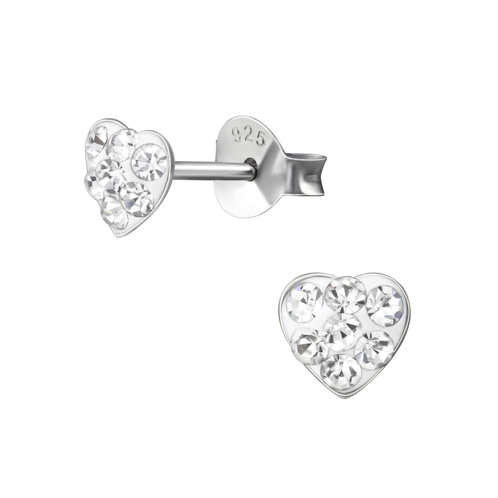 Cercei Inimi cu Cristale din Argint 925