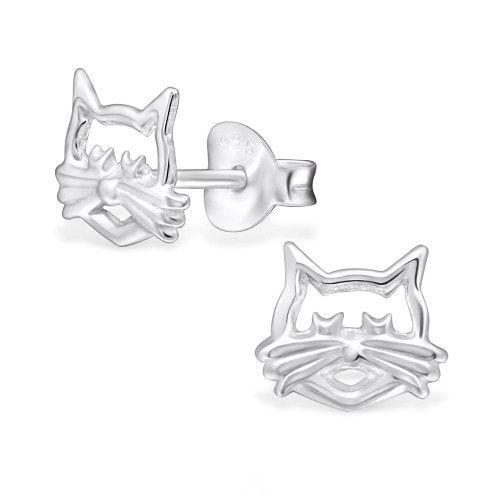 Cercei pentru iubitorii de pisici din Argint 925
