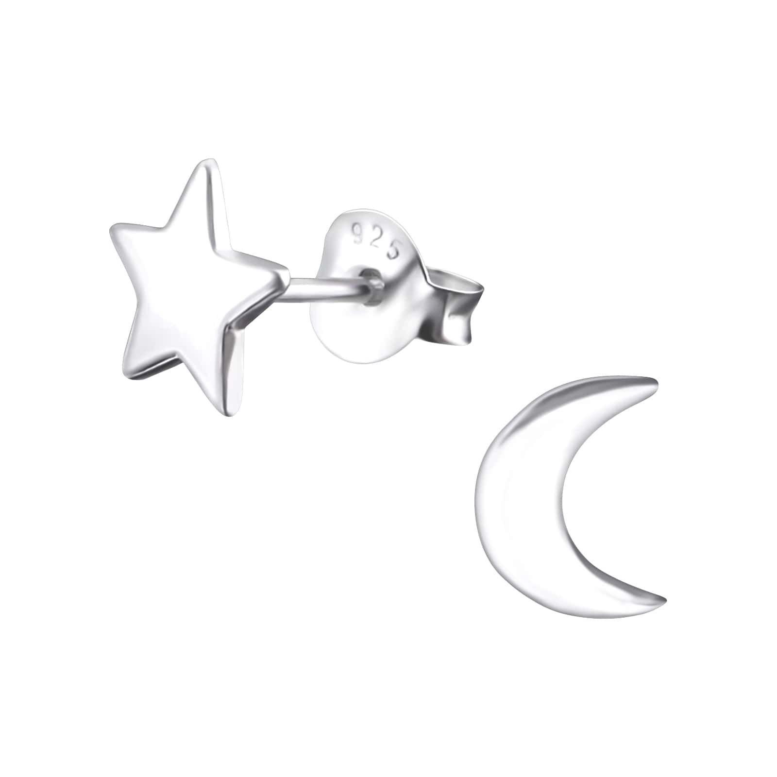 Cercei Stea si Luna Argint 925