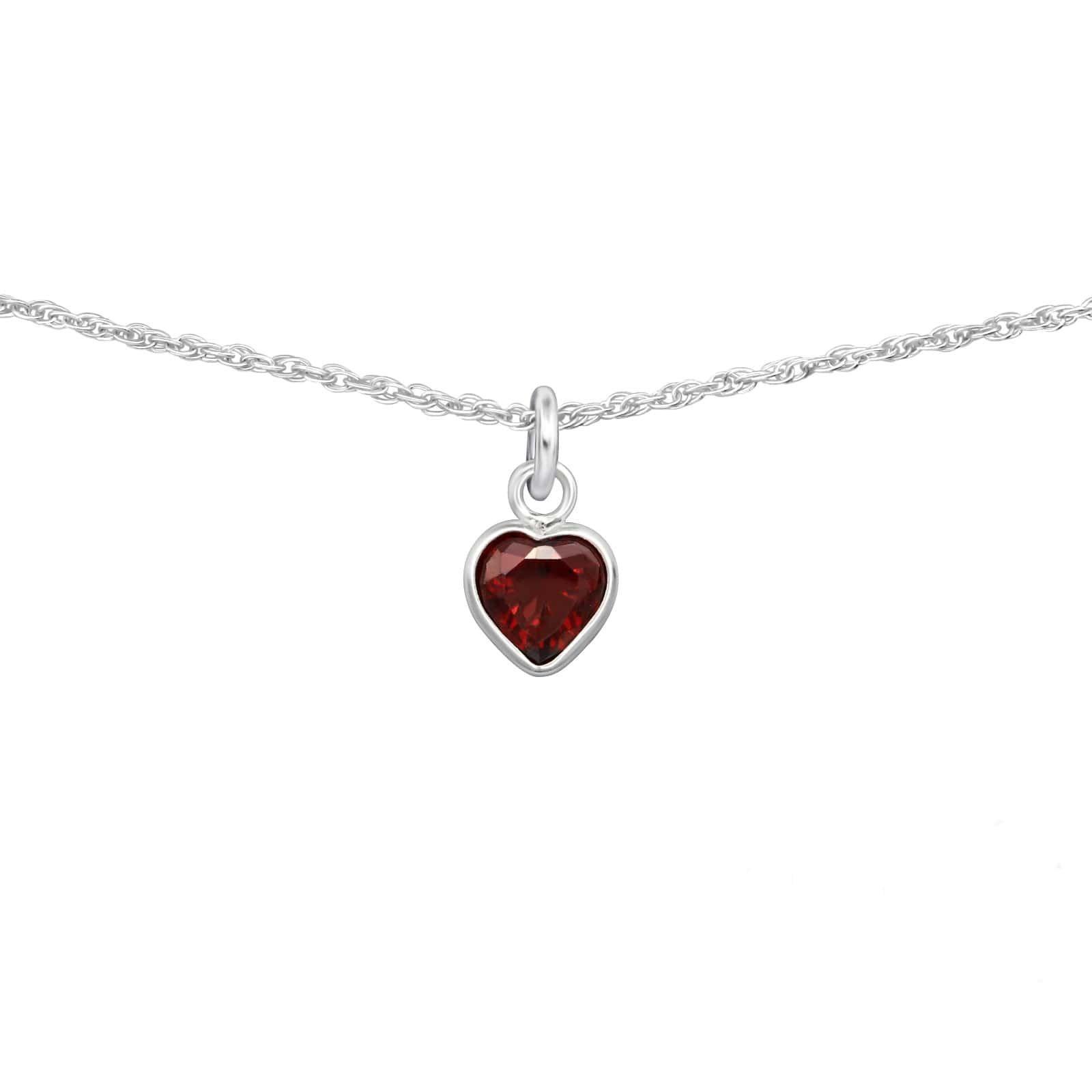 Colier Choker Inima cu Zirconia din Argint 925