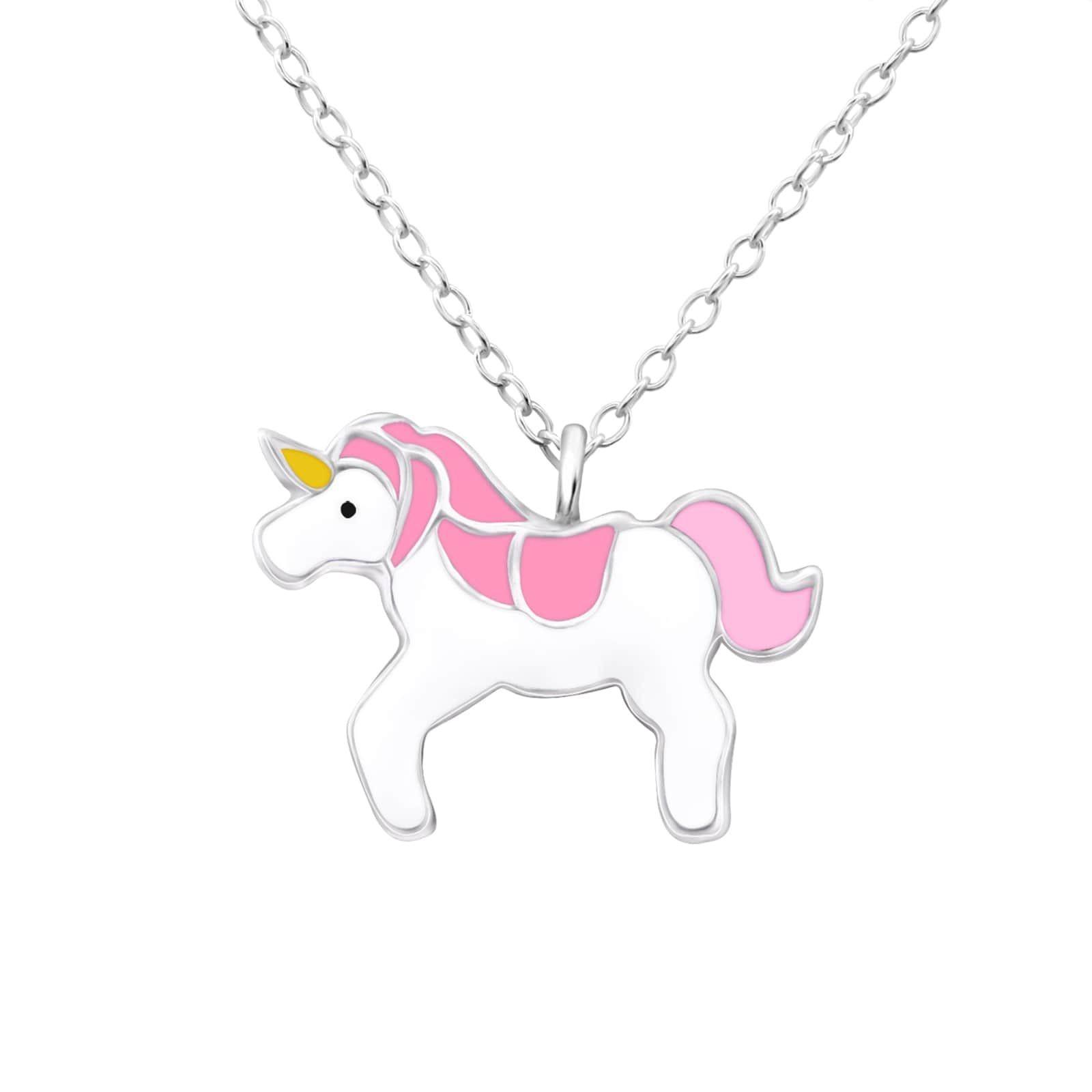 Colier I'm a Unicorn din Argint 925 Roz