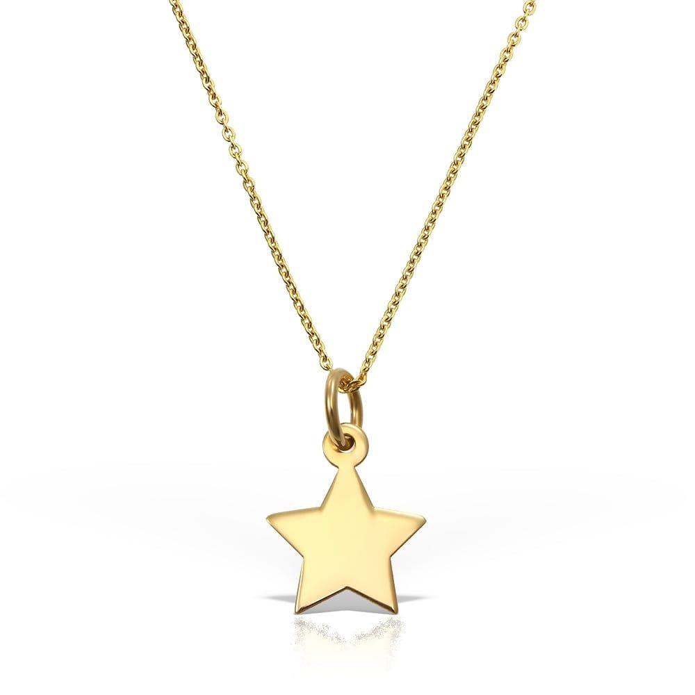 Colier Lucky Star din Aur  galben