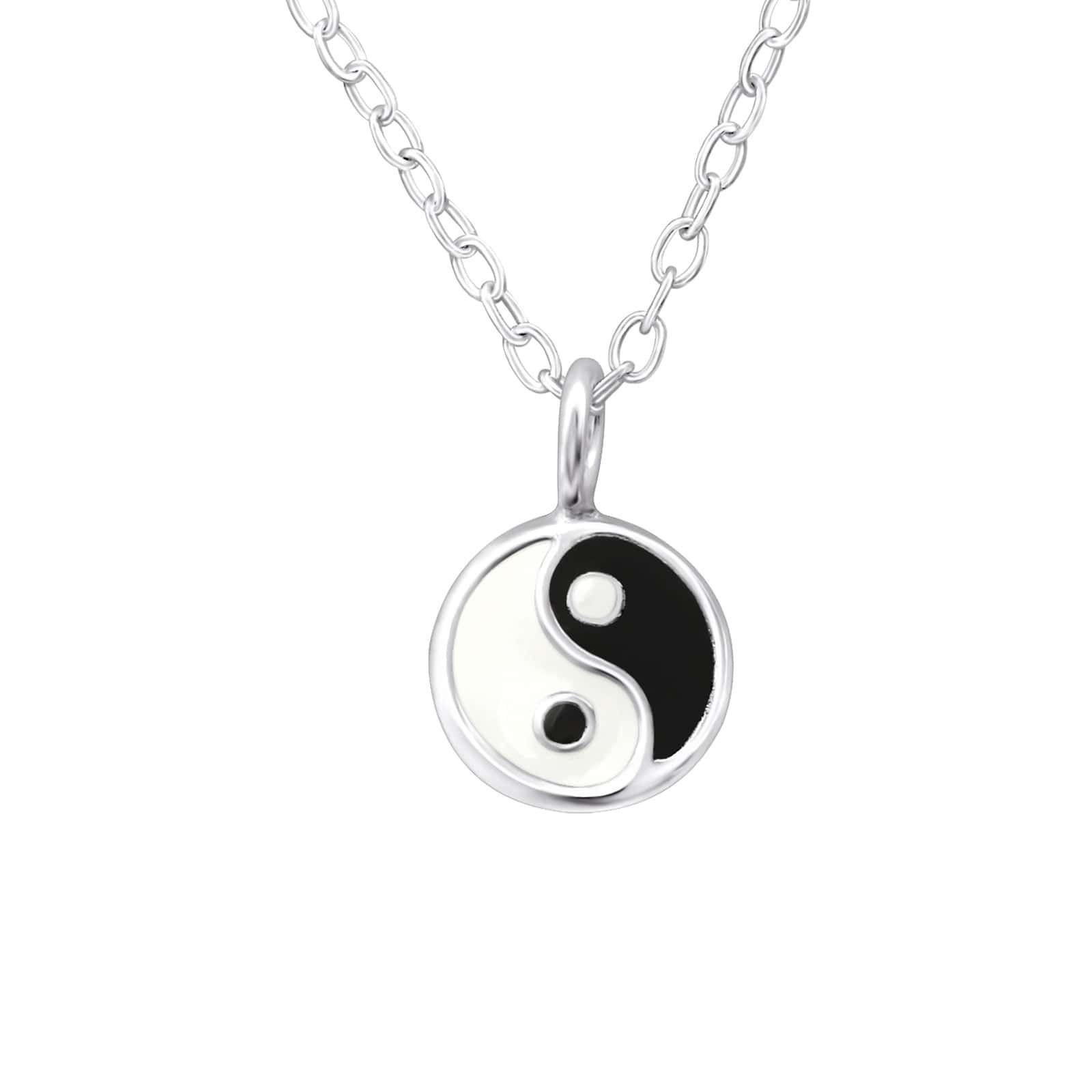 Colier Yin si Yang din Argint 925