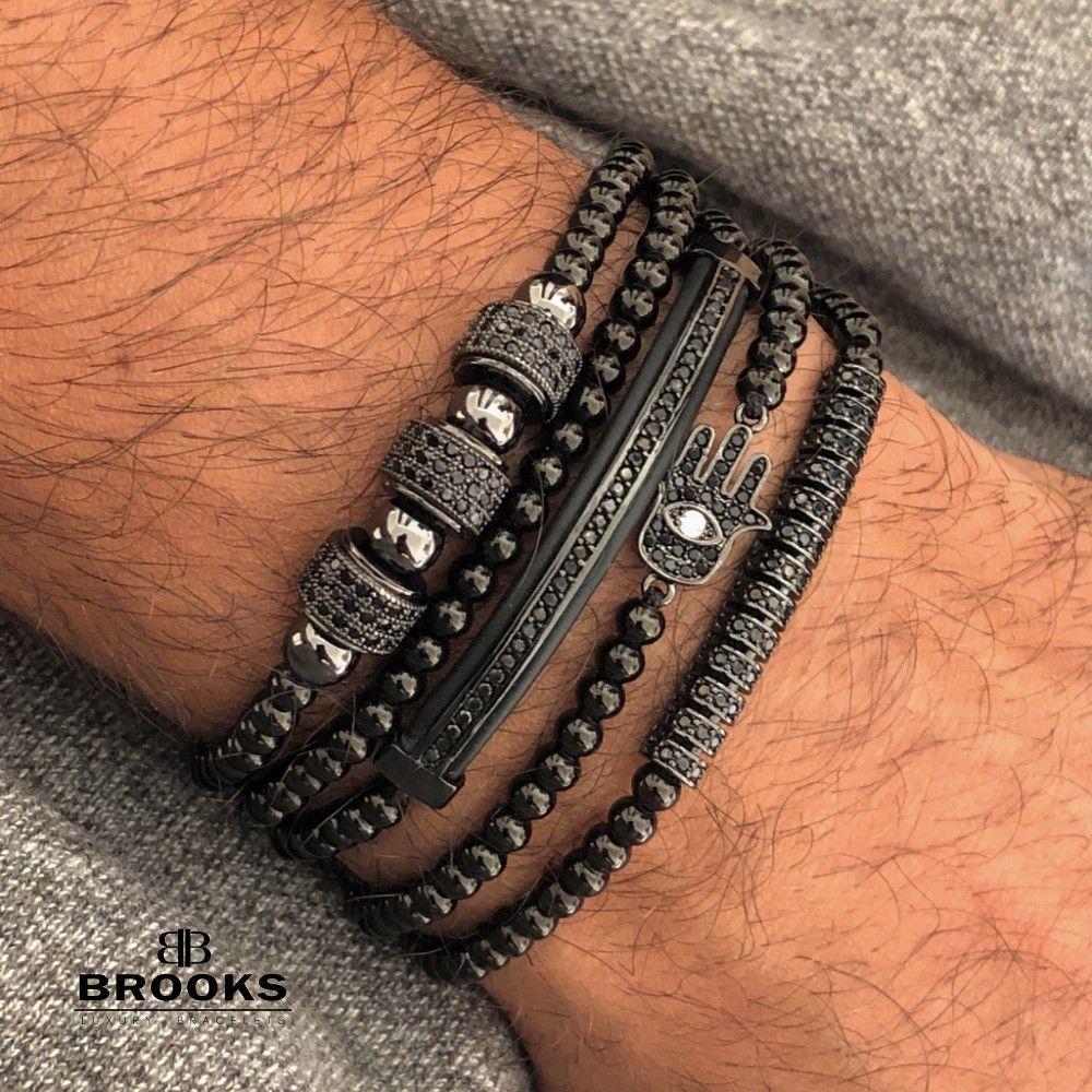 Brooks All Black Set Promaster 5 Zircon Bracelets