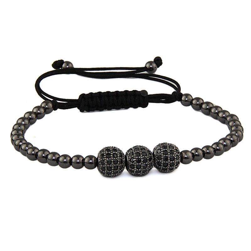 Brooks Spherique Black Zircon Bracelet
