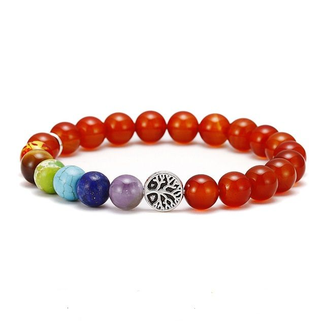 Brooks Chakra Red Beads