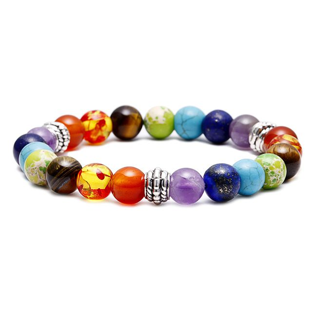 Brooks Chakra Rainbow Natural Beads