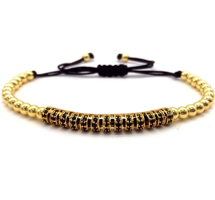 Brooks Gold 14K Men CZ Bracelet