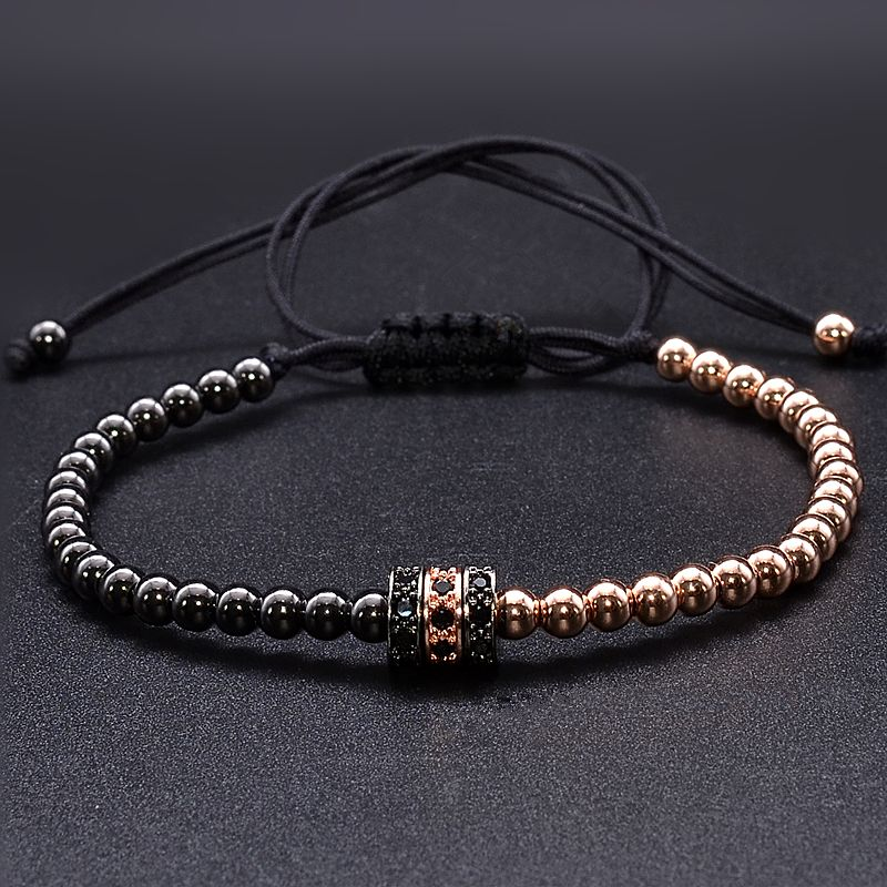Brooks Zircon Black&Rose Gold Beads