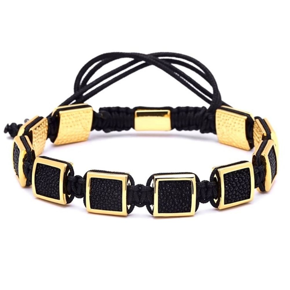 Brooks Squares Gold Bracelets