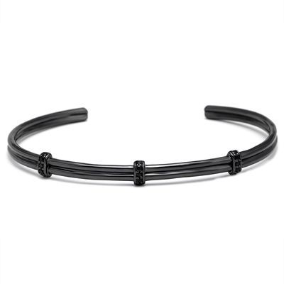 Brooks Men Zircon Bangle BLACK