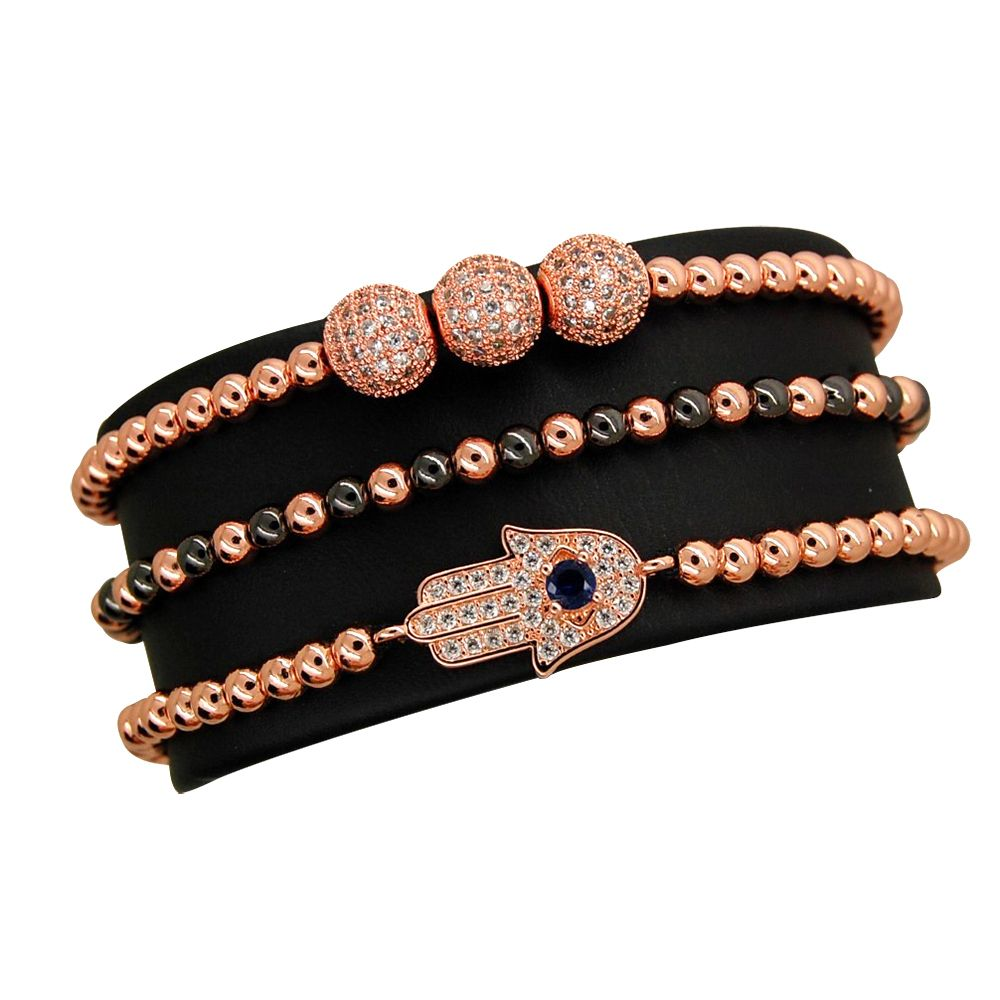 Brooks Set 3 Rose Gold Woman Bracelets