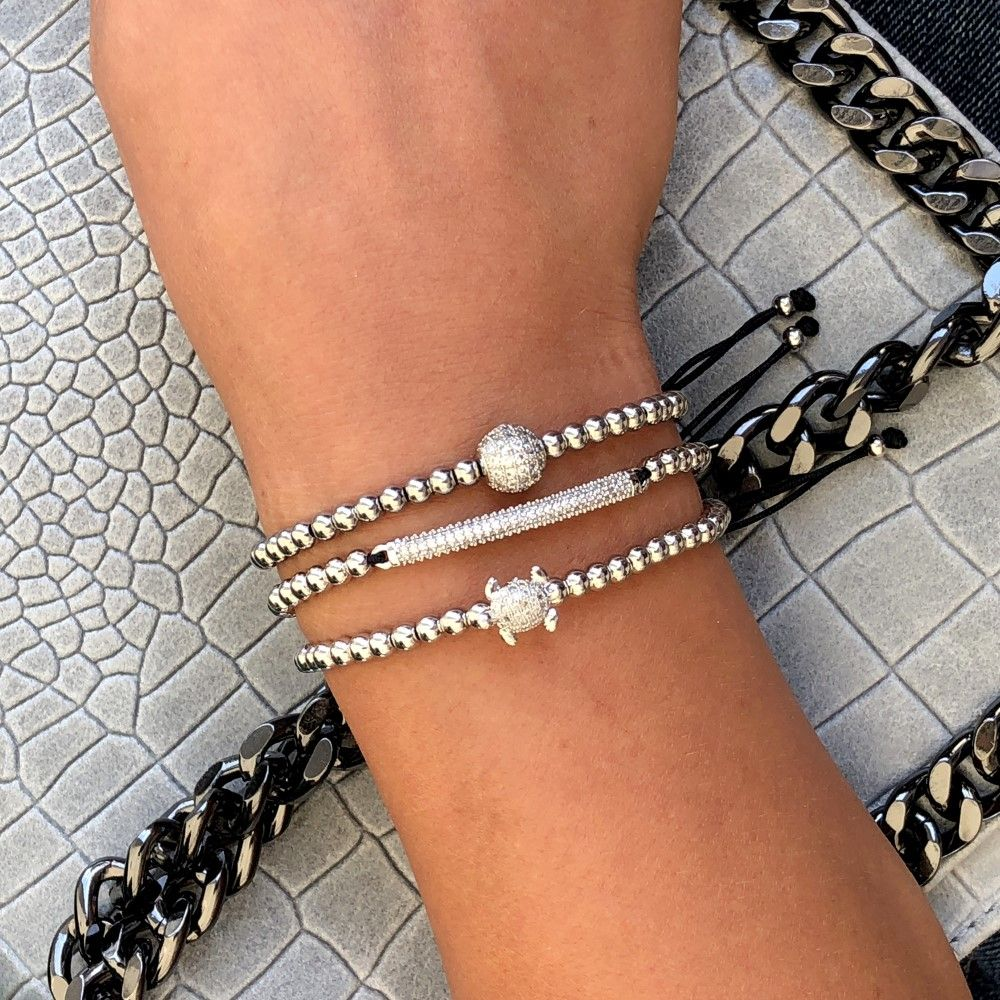 Brooks Luxury Set Silver Tortoise Bracelets