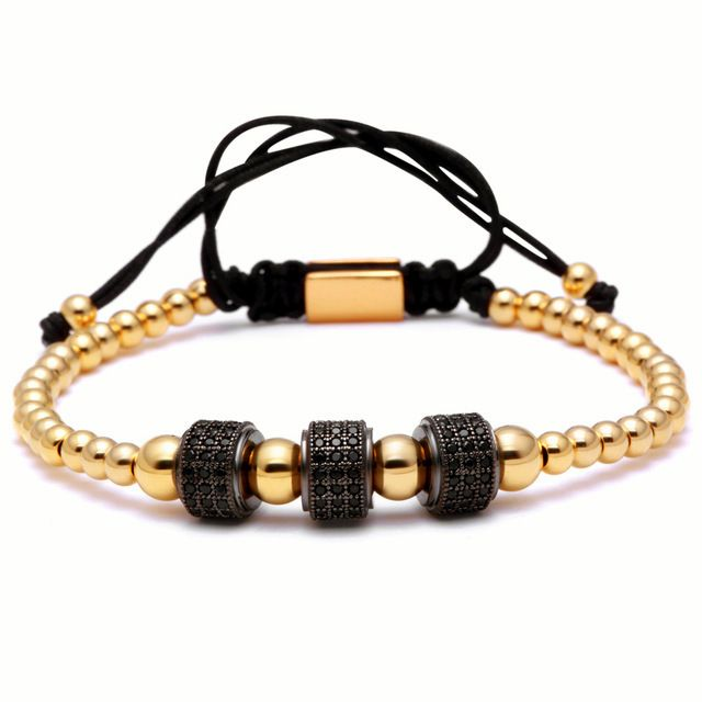 Brooks Black Zircon Gold Bracelet